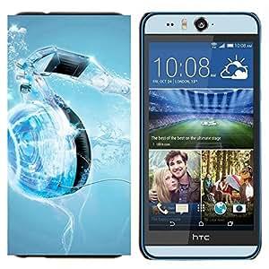 BearCase / Cubierta de protección Caso duro de la contraportada de Shell Plástico /// HTC Desire Eye ( M910x ) /// Water Music Corazón
