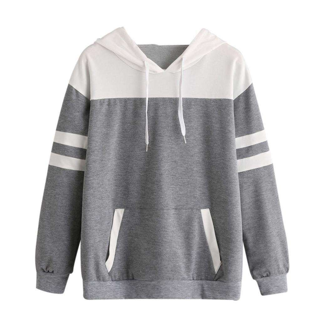 BCDshop Sweatshirt Hooded Womens, Ladies Teen Girls Hoodie Sweatshirt Pullover Tops (L)