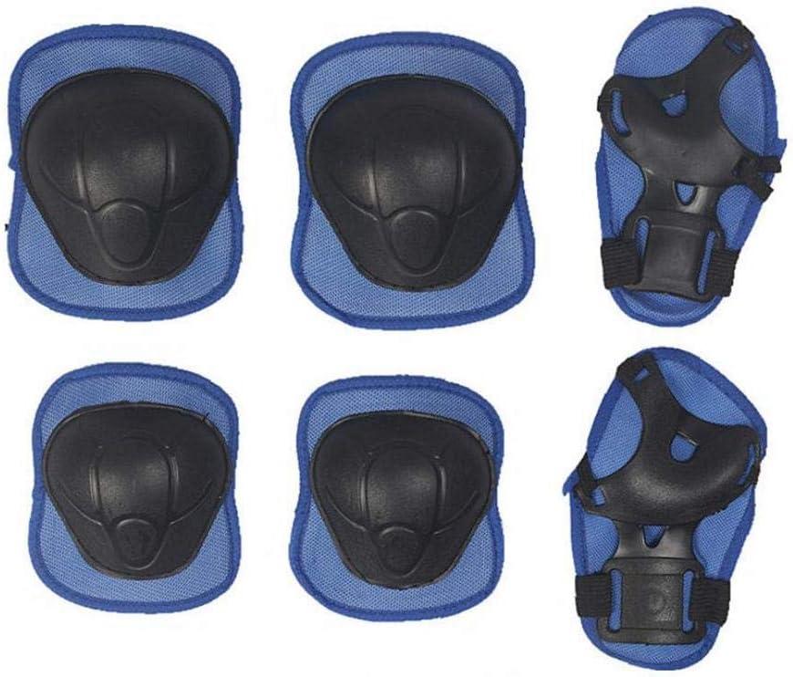 7Pcs Protective Gear Outfit Kids Adjustable Helmet w//Knee Wrist Guard Elbow Pad