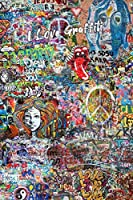 I LOVE GRAFFITI: 120 Blank Pages Notebook To