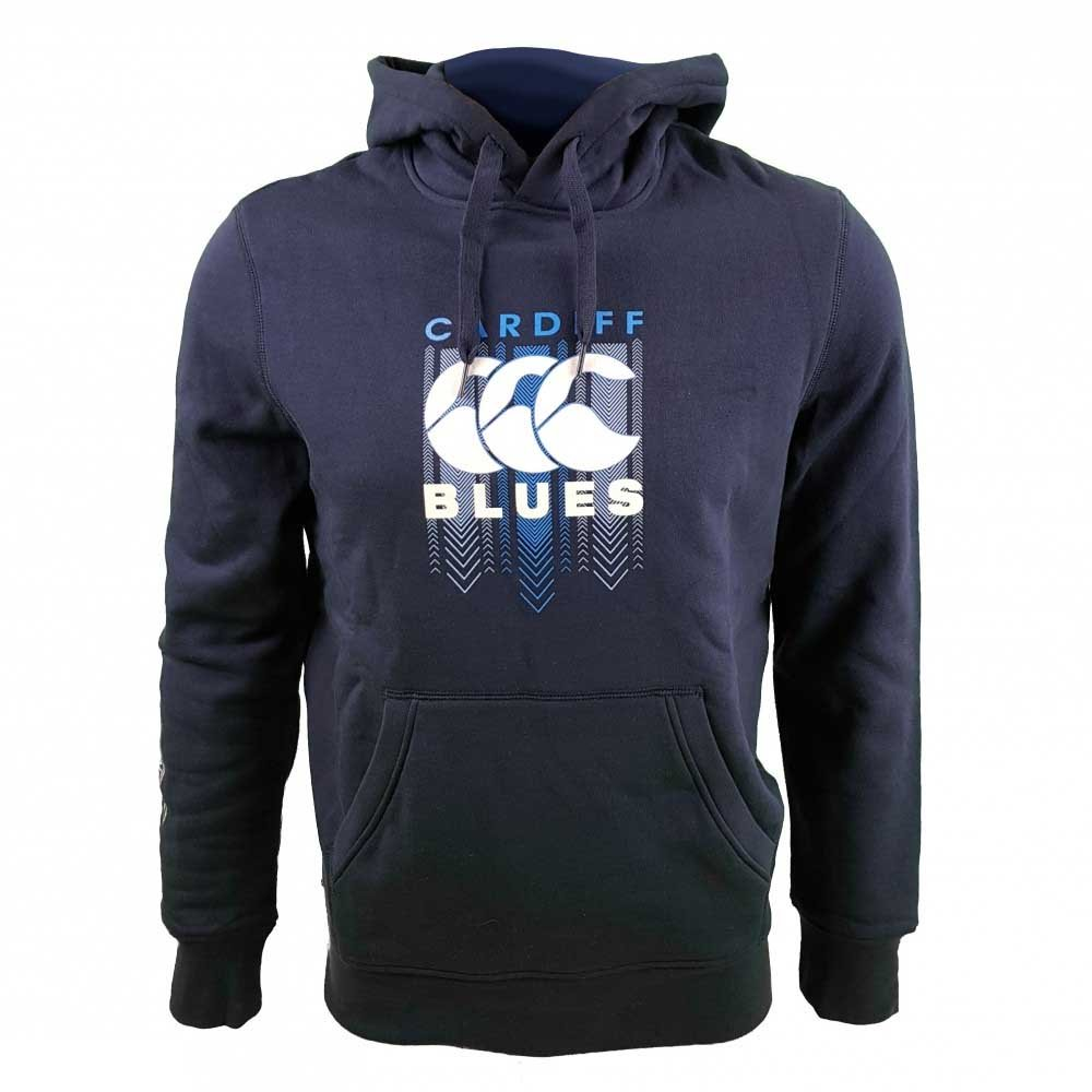 2017-2018 Cardiff Blaus Rugby Large Logo Hoody (Peacot)