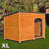 FeelGoodUK Niche pour chien, en bois, 120x 85x 91cm–Extra Large