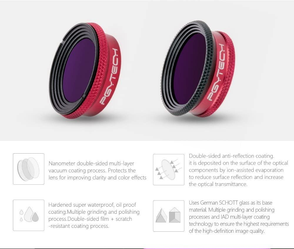 Honbobo Professional HD Lens Filter CPL//UV//ND 4//ND 8//ND 16//ND 32//ND 64//ND-PL Filter Lens Protector CPL Pro