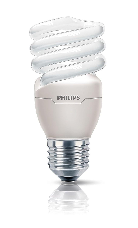 Philips Ampoule FluoCompacte Spirale Culot E27 12 Watts Consomm/és /Équivalence Incandescence 60W
