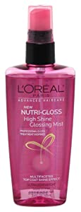 Loreal Nutri-Gloss Shine Mist 3.4oz Pump