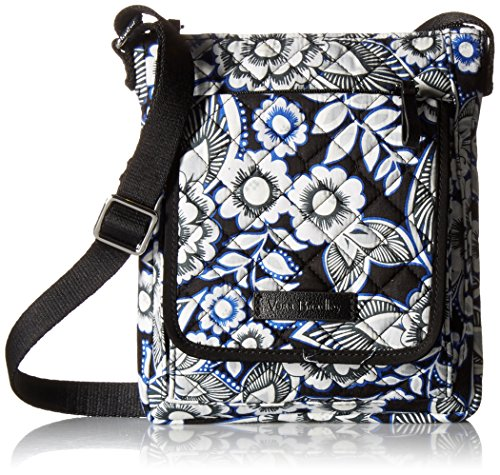 Vera Bradley Iconic RFID Mini Hipster, Snow Lotus (Travel Vera Wallet)