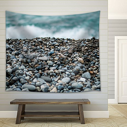 Pebbles on Beach Fabric Wall