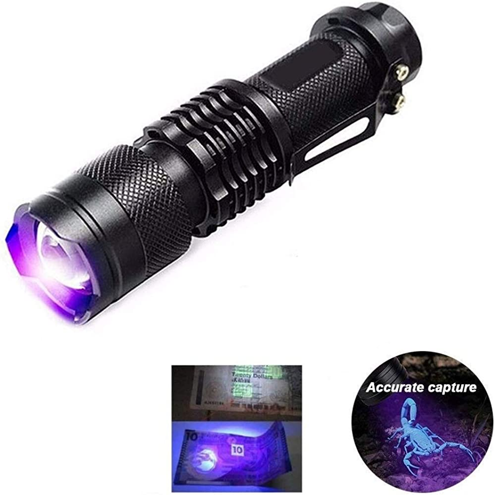 Caminar KAEHA grhv-01 LED emergencias Unisex-Adult One Size Detector Negra de Mano detecci/ón de luz para Acampar Linterna Ultravioleta Black