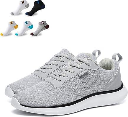 XFQ Caminar Los Hombres De Las Zapatillas De Deporte Ligera Informal Athletic Trainers Amortiguación Tenis Running Zapatos De Gimnasia con 5 Pares De Calcetines Deportivos: Amazon.es: Zapatos y complementos