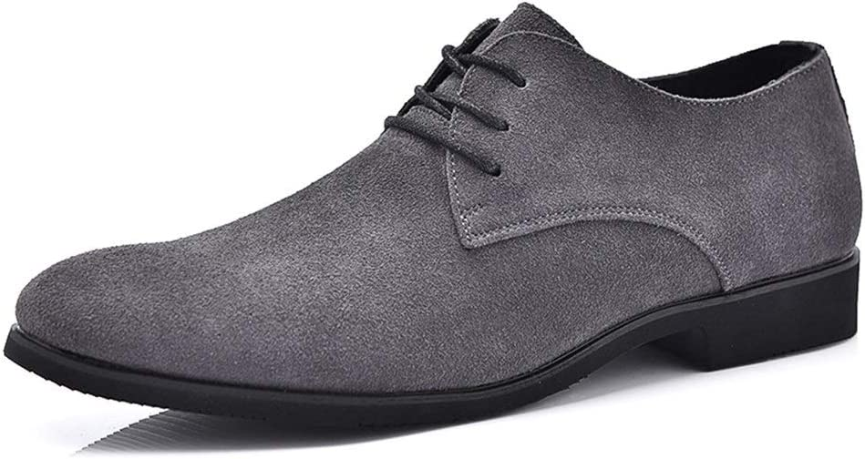 Grau 43 EU HAPPY LEMON Oxford-Schuhe Durable Fashion Oxford Schuhe F&uu ;r M&au ;nner Formale Schuhe Schn&uu ;ren Stil Pu-Leder Low Top Beil&au ;ufige Reine Farben Spitz Langlebige Mode (Farbe   Grau, Gr&ou ;ße   43 EU)