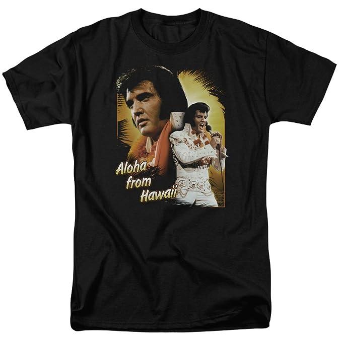 550ff3aaee547b Amazon.com: Elvis Presley - Aloha from Hawaii - Adult T-Shirt: Clothing