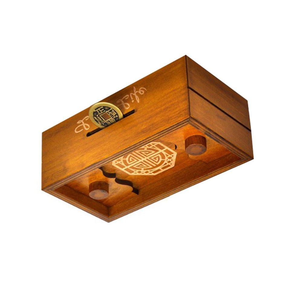 TOYMYTOY Caja Magica Caja secreta rompecabezas de madera Caja de dinero Brain Teaser Caja de regalo (Larga vida): Amazon.es: Juguetes y juegos