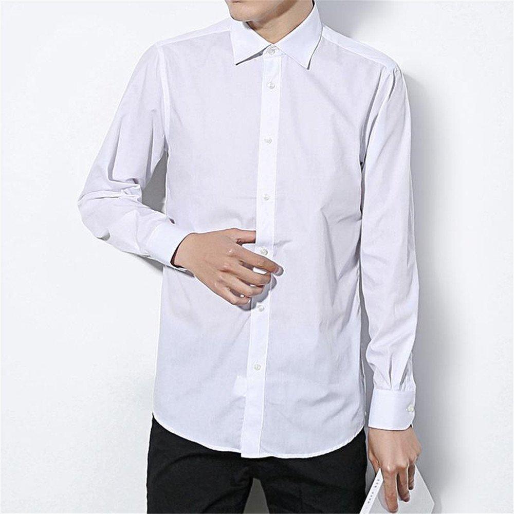 Männer ist Reine Farbe Hemd männer Hemd lässig und Reine Farbe Hemd,weiße,XL