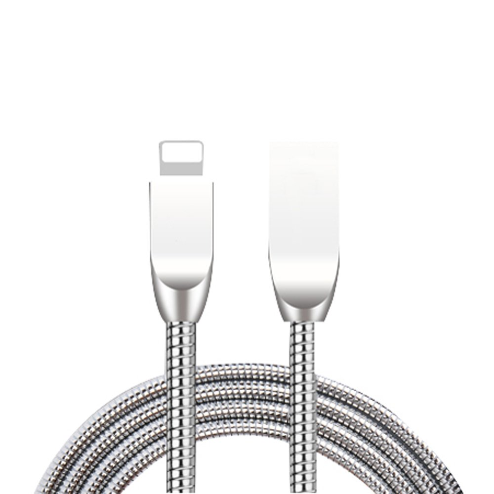 LINAZI Apple iPhone Lightning Charger Cable,[Apple MFi Certified][3.3 Ft] Metal 8 pin Fast Charging Cables USB Charger, Compatible iPhone X /8/8 Plus /7/7 Plus /6/6 Plus/iPad Charger Cord (White) NAMEI