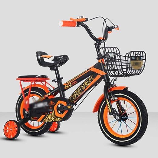 DT La Nueva Bicicleta para niños 12/14/16 Pulgadas Niño y niña Coche Bicicleta Niño Coche 3-4-5-6-7 años (Color : Orange, Tamaño : 12 Pulgadas): Amazon.es: Hogar