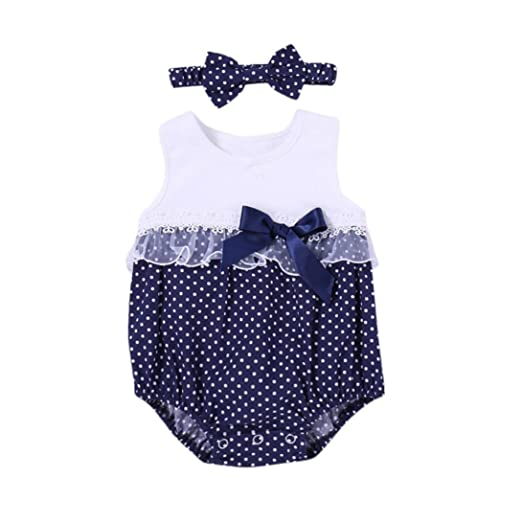 a2f883d2a00d Amazon.com  Connia Newborn Infant Fashion Outfits Set Baby Girls Dot ...