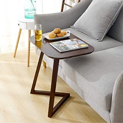 Amazon.com: Bamboo Small Portable Table, Bedside Computer Desk for ...