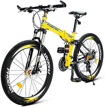 Qj Bicicletas De Montaña Plegable, 21-Velocidad Doble Suspensión ...