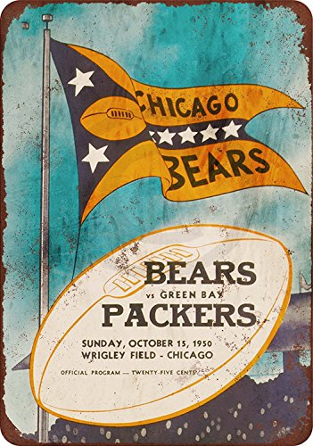 1950 Chicago Bears vs. Green Bay Packers Reproduction Metal sign 8 x 12 ()