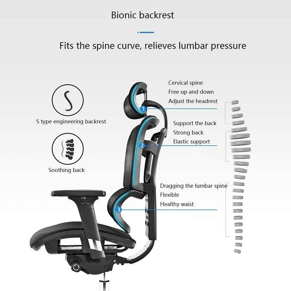 Ergonomisk stol datorstol hem spelstol ländryggen kontorsstol rygg nätstol multifunktionell justerbar armstöd knästol (färg: Orange) Orange