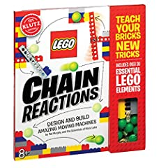 LEGO Chain Reactions is packed full of ideas, instructions, and inspiration for 10 LEGO machines that spin, swing, pivot, roll, lift, and drop. Each machine alone is awesome, but put them together and you get incredible chain reactions...