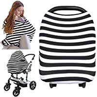 Carseat Canopy Cover - Baby Nursing Cover - All-in-1 Nursing Breastfeeding Covers Up - Baby Car Seat Canopies for Boys…