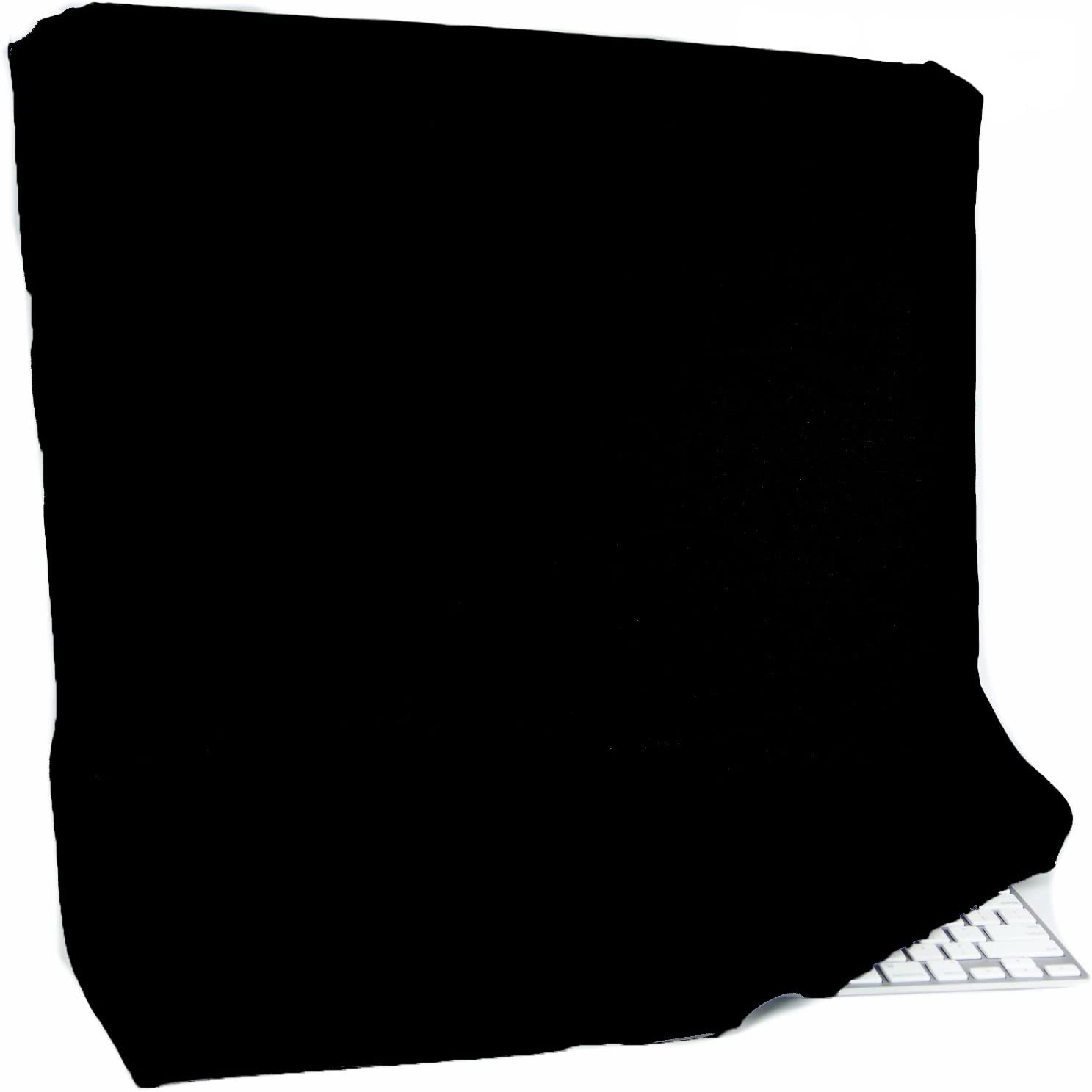 """Kuzy - 27-inch Black Full Cover for Apple Thunderbolt and/or Cinema Display 27"""" LCD Dust Cover, Display Protector Model: A1316 and A1407 - Black"""