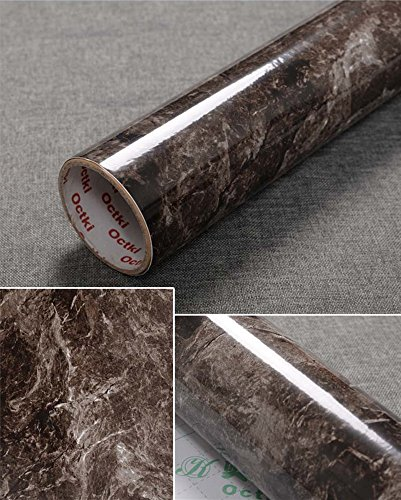 Bestevers Drak Brown Marble Self Adhesive Gloss Vinyl Wrap