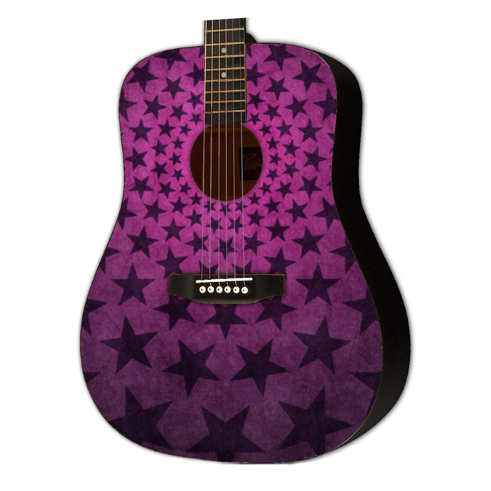 Graphic Acoustic Guitar GIRLROCK STARS Design