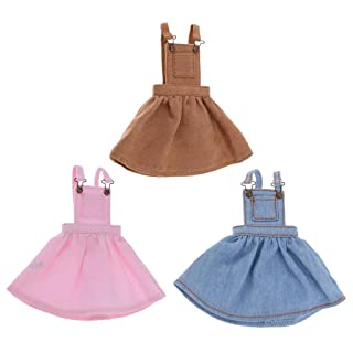 B Blesiya 3 Pcs Abito Tascabile Tracolla Gonna Bretelle Moda Per 1/6 Bambola Accessorio Panno Cotone Regali Bambini