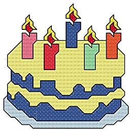 Birthday Cake With Candles Cross Stitch Chart Pattern