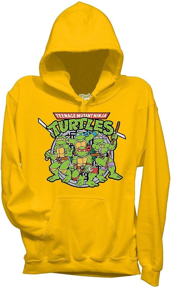 Ufficiale Teenage Mutant Ninja Turtles LOGO Sweater Felpa con Cappuccio-Nero TMNT MOVIE
