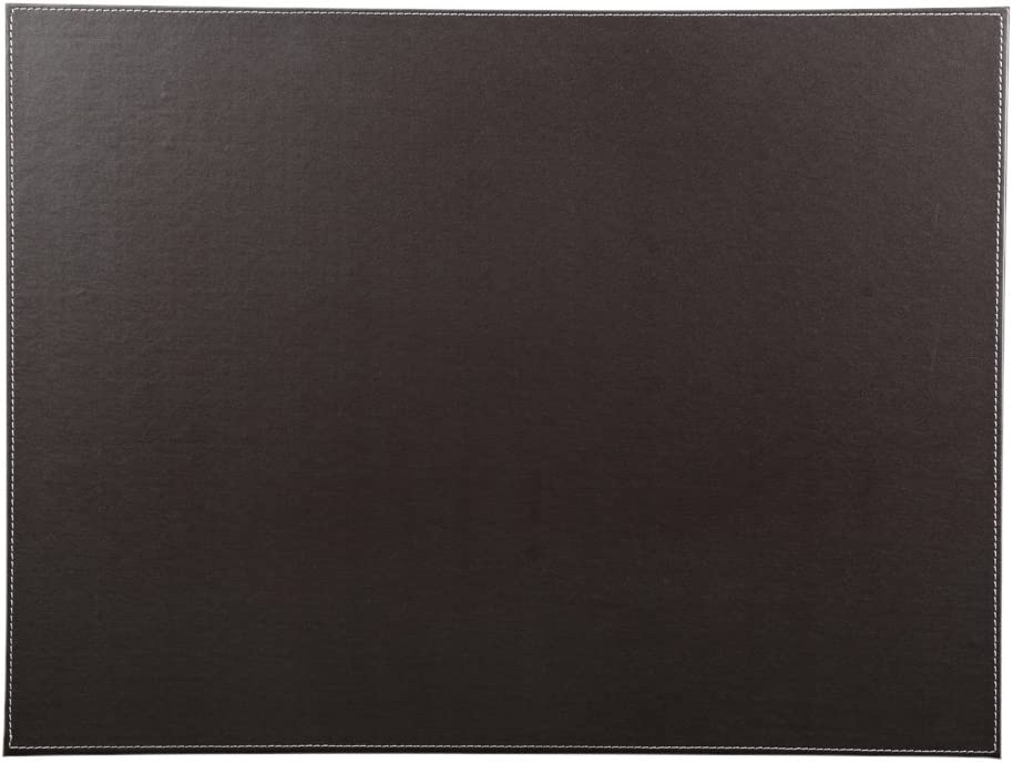 "KINGFOM Desk Pad & Mat 24"" x 18"" Protector Large Mouse Pad PU Leather for Desktops and Laptops (Brown)"