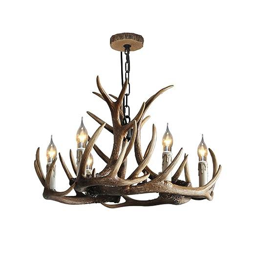 Rustic resin deer horn antler chandelier6 candle lightsbulbs not rustic resin deer horn antler chandelier6 candle lightsbulbs not included aloadofball Images