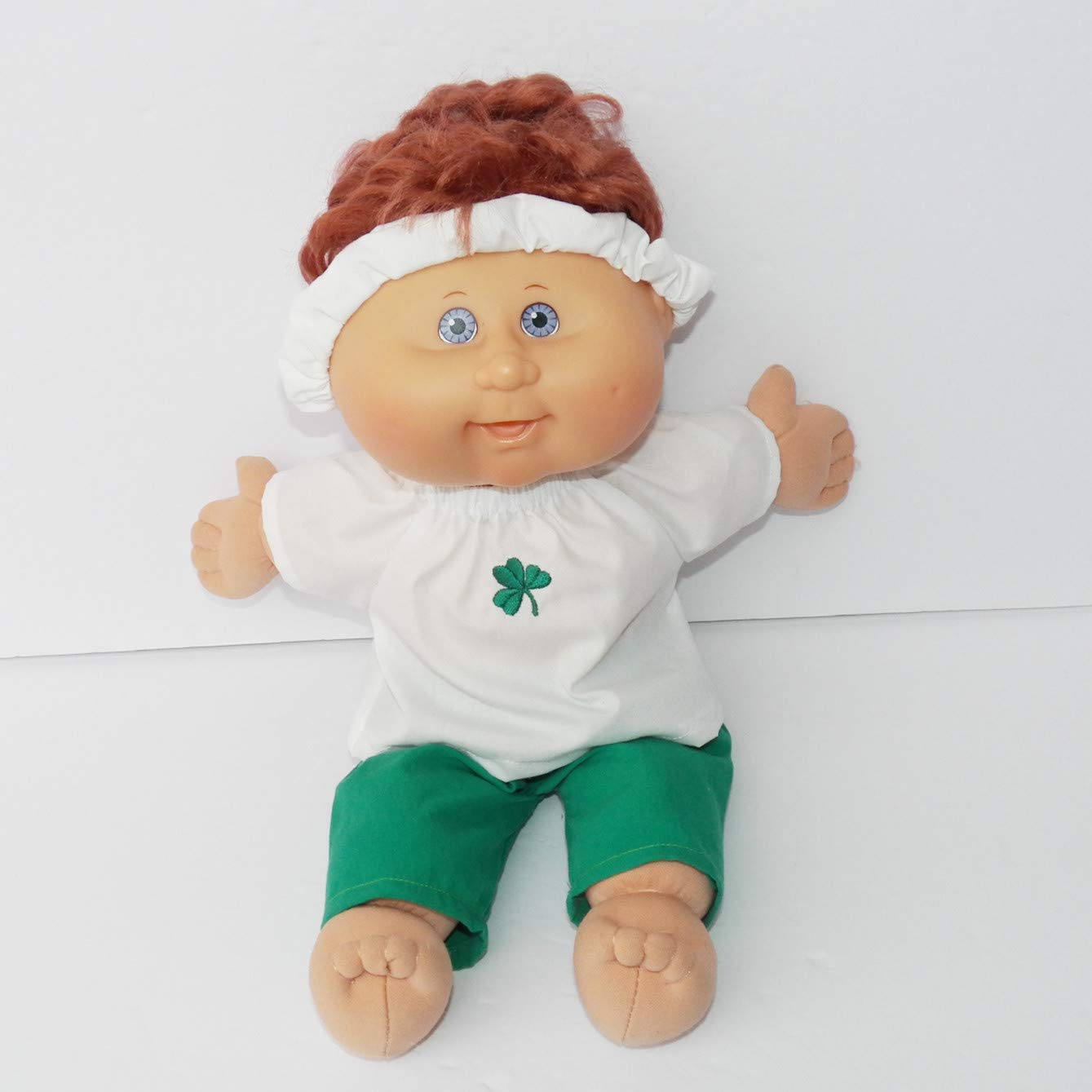 Cabbage Patch Doll Clothes 14 Inch or Preemie Girl Size Shamrock Pants Outfit Clothes Only