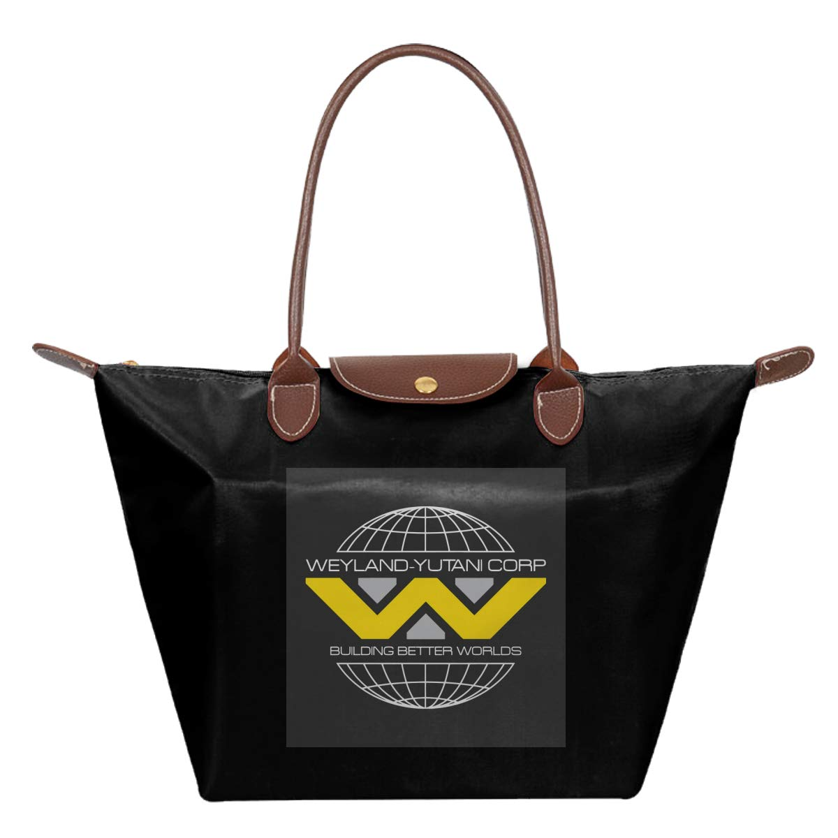 Alien Weyland Yutani Corp Logo Waterproof Leather Folded Messenger Nylon Bag Travel Tote Hopping Folding School Handbags