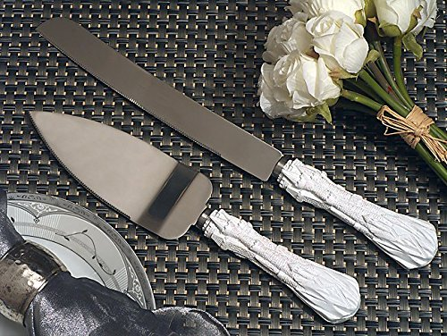 Happily ever after wedding cake and knife set From FavorOnline