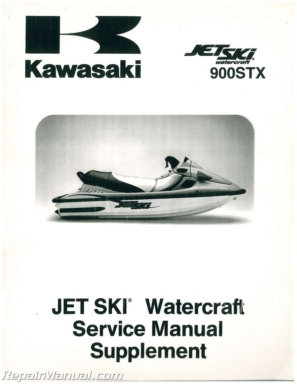 99924-1242-52 1999-2002 Kawasaki 900 STX Jet Ski Factory Service Manual  Supplement: Manufacturer: Amazon.com: Books