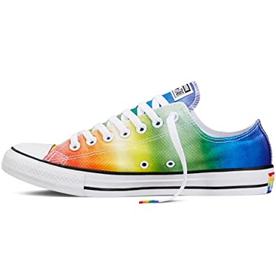 085ffffcf473 Converse Chuck Taylor All Star Pride LGBT Ox 154794C Rainbow White Unisex  Shoes (Size 13
