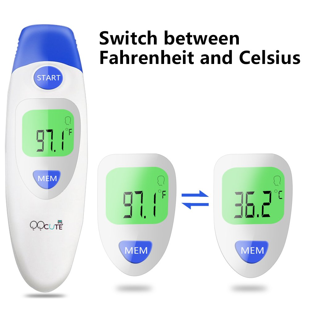Digital Infrared Baby Forehead Thermometer with Ear Function More Accurate Medical Fever Body Basal Thermometers Suitable for Infant Kid Adult - FDA and CE Approved by QQCute (Image #7)