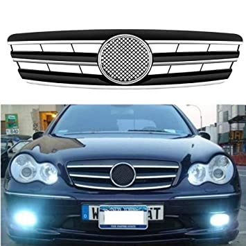 MOTORFANSCLUB - Parrilla para Benz Clase C W203 4Dr 01-07 (3 ...