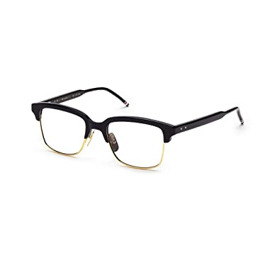 09014a18a72e THOM BROWNE TB 709 C-NVY-GLD Navy18K Gold Eyeglasses at Amazon Men s ...