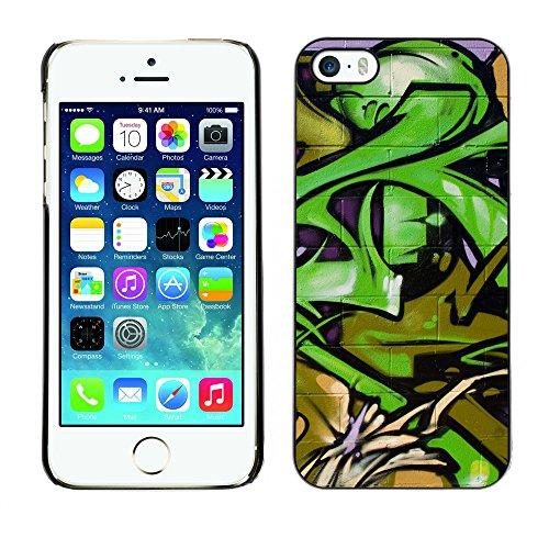 Premio Sottile Slim Cassa Custodia Case Cover Shell // V00002371 Graffiti // Apple iPhone 5 5S 5G