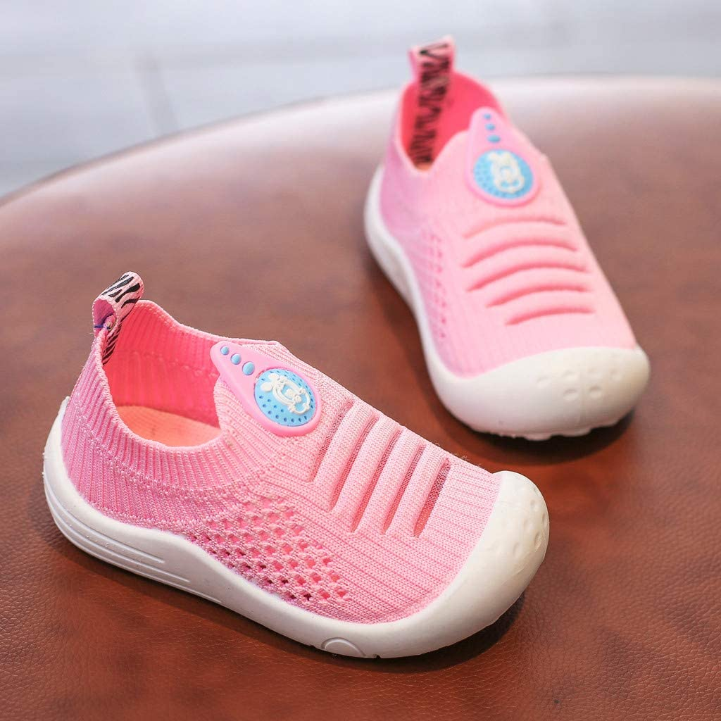 Voberry Baby Shoes,Toddler Infant Kids Baby Girls Boys Solid Soft Mesh Socks Sports Shoes Sneakers