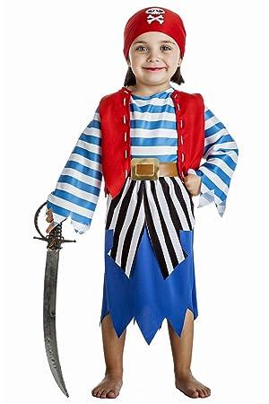 Disfraz de Pirata Niña (5-6 años): Amazon.es: Juguetes y juegos