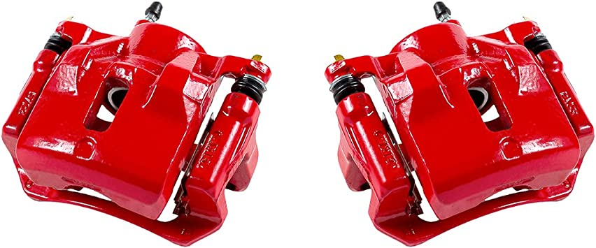 Power Stop S2698 Performance Front Brake Calipers Powder Coated Red Pair