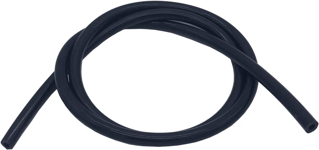 "Ucreative 5FT High Temperature Silicone Vacuum Tubing Hose Black (1/4"" (6mm))"