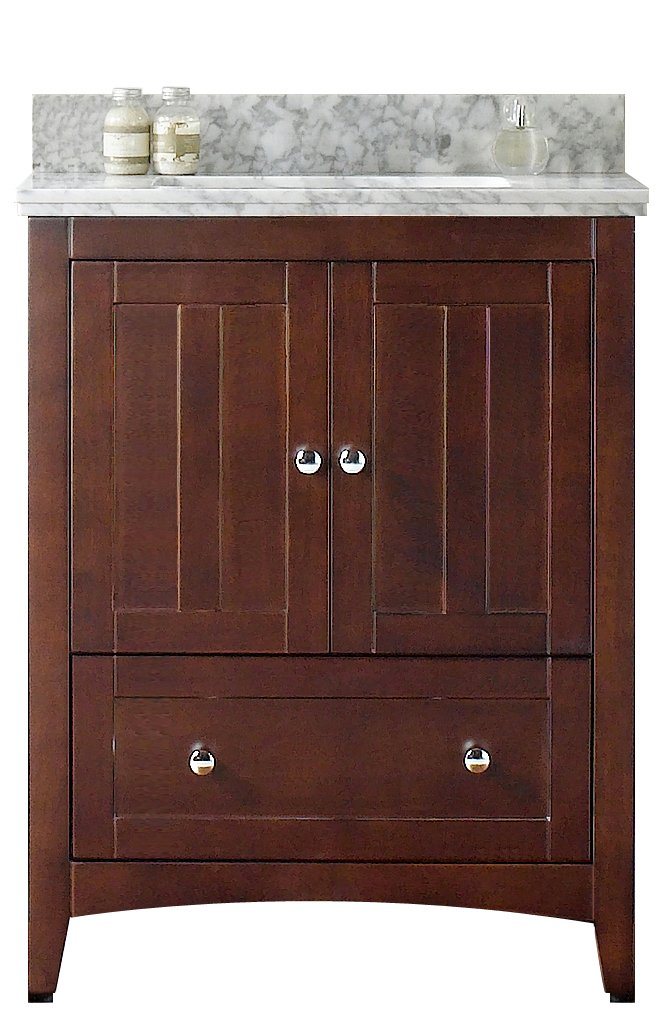 "Jade Bath JB-17552 29.5"" W x 18"" D Plywood-Veneer Vanity Set, Walnut best"