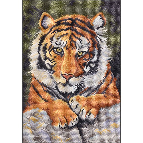 Benji Tiger Mini Counted Cross Stitch Kit-5