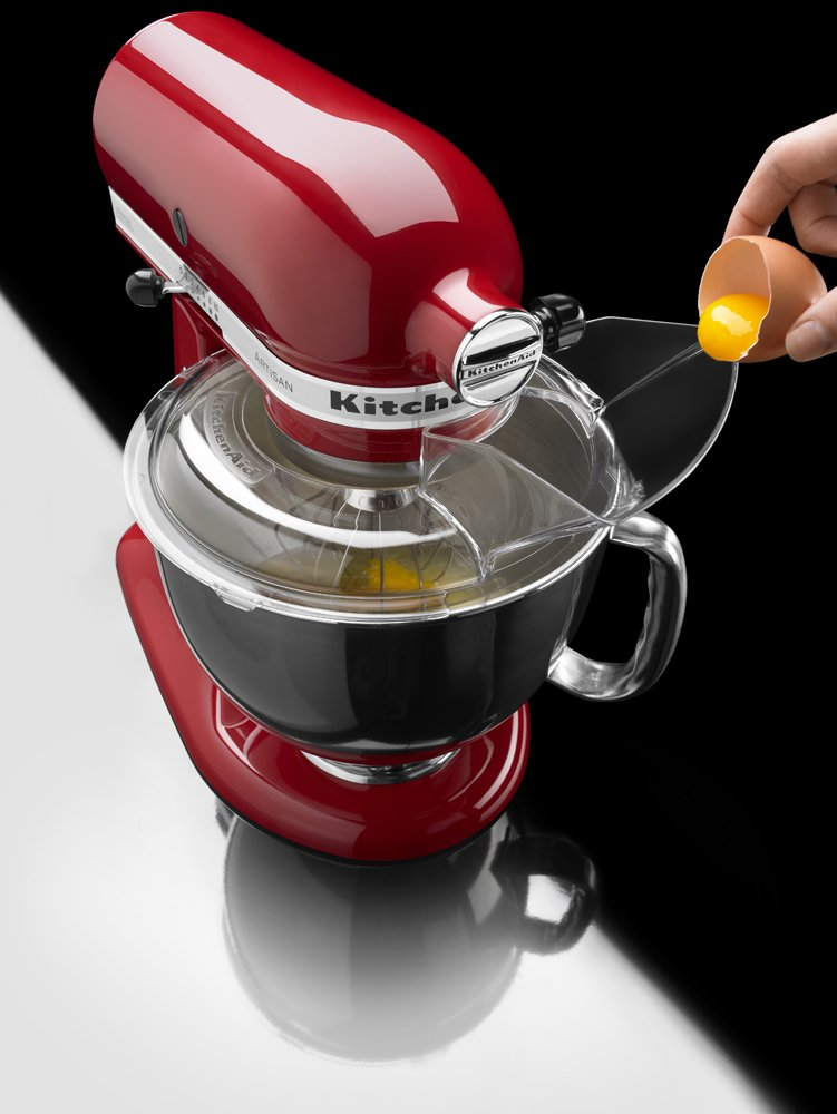 KitchenAid KSM150PSER Artisan Tilt-Head Stand Mixer with Pouring Shield, 5-Quart, Empire Red by KitchenAid (Image #5)